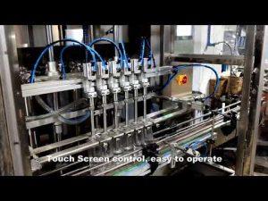 automātiska 6 galviņu izsniegšanas mazgāšanas līdzekļa hlora šķidruma iepildīšanas pildīšanas mašīnu līnija