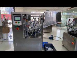 automātiska plastmasas cauruļu iepildīšanas aizzīmogošanas mašīna roku krēma zobu pastai