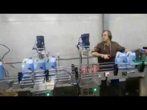 automātiska pretkorozijas tualetes tīrīšanas līdzekļa dezinfekcijas šķidruma balinātāju uzpildes mašīnu līnija