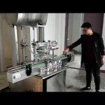 kosmētikas uzpildes mašīna, automātiska virzuļa pastas šķidro ziepju pildīšanas mašīna
