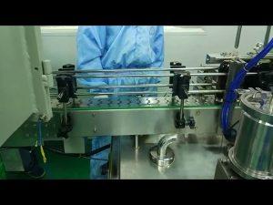 Apaļas pudeles no 30 līdz 100 ml dubultā sliežu pildīšanas un ieskrūvēšanas mašīna
