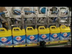 automātiska 8 galvu veļas mazgāšanas līdzekļa šampūna pudeļu pildīšanas mašīna