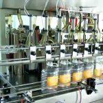 automātiska 5 litru virzuļdegvielas pudeļu pildīšanas mašīna
