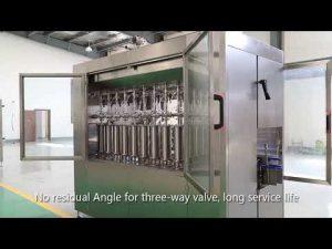 automātiska virzuļa mājdzīvnieku stikla pudeles eļļas šķidruma iepildīšanas vāciņu marķēšanas mašīnu līnija