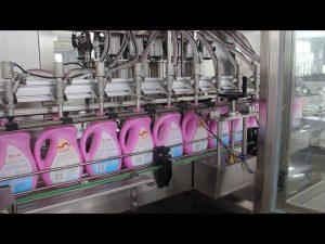 automātiska pārtikas eļļa, olīveļļa, mazgāšanas līdzekļa pudeļu šampūna pudeļu pildīšanas mašīna
