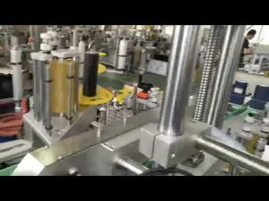 automātiska plastmasas un stikla pudeļu burku pašlīmējošu uzlīmju marķēšanas mašīna